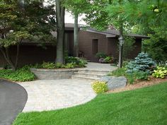 Belding Entry - Landscaping and design by Rosemont Nursery