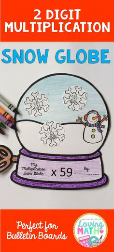 2 Digit Multiplication Craft - Perfect for bulletin board displays!