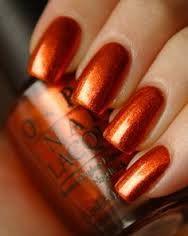 Image result for orange chrome nails