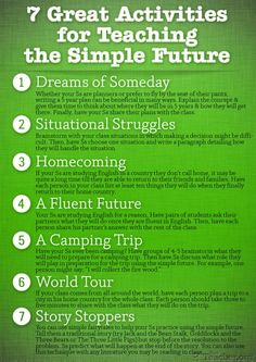 7 Great Activities to Teach the Simple Future