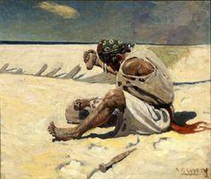 N. C. Wyeth (1882-1945) Saturday Evening Post, cover illustration 1908