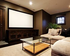 media room design this is where you want to watch Craft Room Ideas Finished Basement Ideas