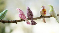 Vögel mit Schnittmuster