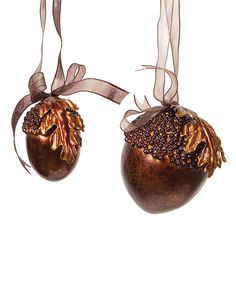 Copper Acorn Ornament. I like the idea of painting the nut part copper.