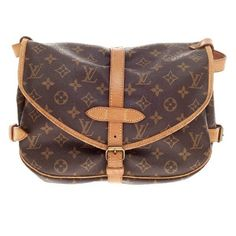 Pre-owned Louis Vuitton Shoulder Bag ($591) ❤ liked on Polyvore featuring bags, handbags, shoulder bags, apparel & accessories, wallets & cases, leather cross body purse, crossbody purse, brown crossbody purse, brown shoulder bag and leather handbags