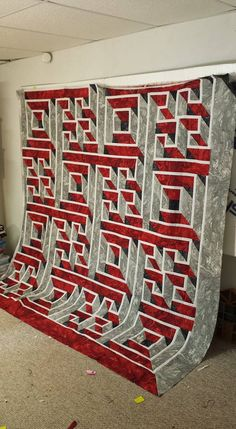 3d Quilts, Panel Quilts, Quilt Blocks, Optical Illusion Quilts, Optical Illusions, Quilting Tips, Machine Quilting, Labrynth Quilt Pattern, Labyrinth Walk
