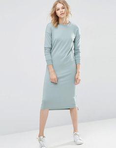 Изображение 1 из Прямое трикотажное платье с высокой горловиной ASOS