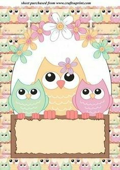 Buho dibujo infantil Makeup Hacks makeup hacks of 5 minutes craft Owl Theme Classroom, Owl Artwork, Owl Clip Art, Owl Wallpaper, Cute Coloring Pages, Borders For Paper, Decorate Notebook, Baby Scrapbook, Art Plastique
