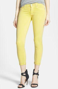 Lemon crop jeans for spring.