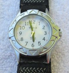 Women's Timex Indiglo Easy To Read Face Watch with Velcro Band #Timex #Casual