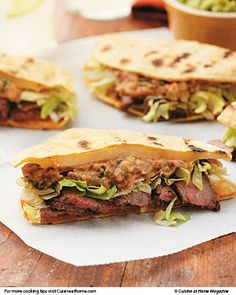 This grilled Steak Quesadilla Sandwich, plus Pickled Jalapeño Guacamole, turns any meal into a fiesta.