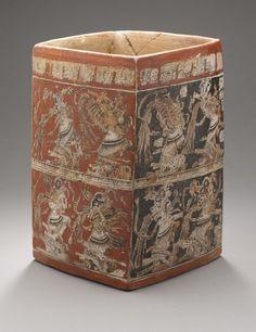 Vase of the Eleven Gods Maya Guatemala AD 650-85 | LACMA Collections