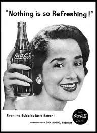 Coca Cola advertisement from the 1950s. I love those retro advertisements, they're so artsy..