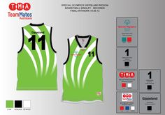 Artwork for the Special Olympics Victoria basketball singlets