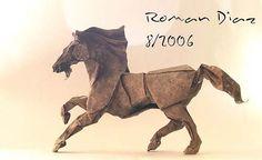horse origami  Lenyűgöző origami állatok - Kreatív művészet