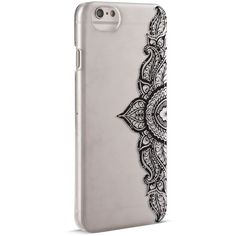 Nanette Lepore Black Watercolor Tattoo iPhone 6/6s Case ($15) ❤ liked on Polyvore featuring accessories, tech accessories, black and nanette lepore