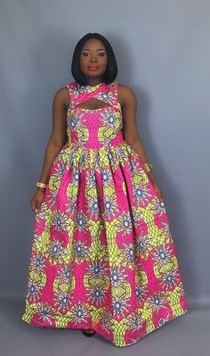 Hello beautiful ladies, Ankara gowns has made us understand the beauty of the Ankara fabrics. Ankara gowns are so beautiful and attractive. These ankara gowns are so sweet and charming. With these gowns, you would look so outstanding and unique. Latest African Fashion Dresses, African Print Dresses, African Dresses For Women, African Print Fashion, Africa Fashion, African Attire, African Wear, African Women, Ankara Fashion