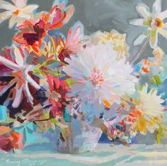 originals - ERIN GREGORY Erin Gregory, Artist Gallery, Watercolor Flowers, Contemporary Artists, Still Life, Flower Power, In This Moment, Fine Art, Abstract