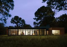 Rural Retreat by Brininstool + Lynch with Luxury Design - Glass Walls