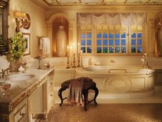 The Royal Suite at @Mandy Bryant Dewey Seasons Hotel Alexandria at San Stefano, Egypt offers three full marble bathrooms, plus guest powder room