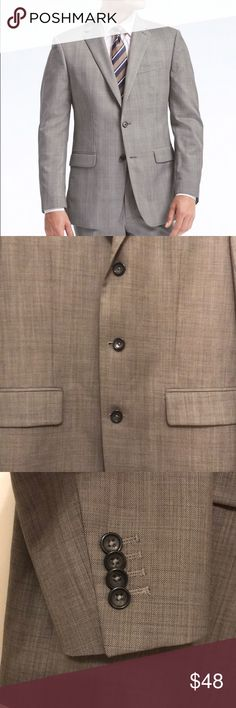 Banana Republic Men's Suit jacket Size 40R, Worn once! Great condition as seen in pics! Color - charcoal and light grey Banana Republic Suits & Blazers Sport Coats & Blazers