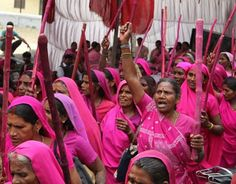 India's Pink Vigilante's! How wonderful!! These,the poorest of the down trodden are banding together to fight against abusive husbands and corrupt politicians. AND it's working! Keep going my SISTERS!!