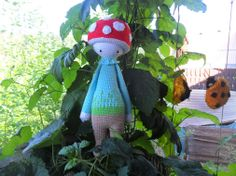PAUL the toadstool made by Martina H. / crochet pattern by lalylala