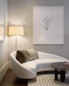 Unique sofa for your room inspirations 00006 Narrow Living Room, Living Room Seating, Living Room Sofa, Dining Room Chairs, Small Living, Sofa Design, Canapé Design, Interior Design, Gebogenes Sofa