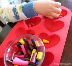 Like many homes with toddlers as residents, our crayon collection is very often being replenished. The boys break them in half, press too hard on the tips, drop them, lose them…you name it. So, instead of throwing the broken crayons into the garbage, this fun Valentine's Day craft will recycle old crayons and make them [...]