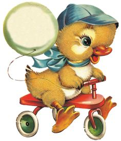 Baby Easter Chick on His Trike