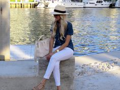 A Spoonful of Style: nautical style with J.Crew panama hat
