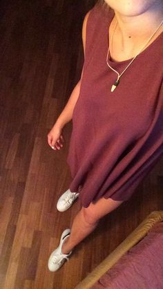 Brandy Melville dress Adidas Stan Smith (also on my board MyShoes)