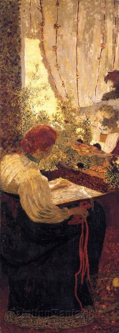 "Edouard Vuillard French Painter 1868 - 1940 ""The Tapestry"" from ""The Album"" 1895 Pierre Bonnard, Edouard Vuillard, Paul Gauguin, Post Impressionism, Paintings I Love, Henri Matisse, Museum Of Modern Art, Art Museum, Oeuvre D'art"