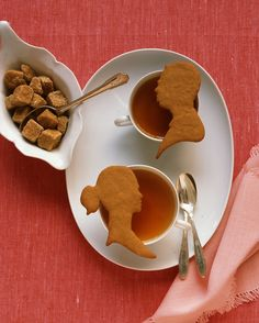 The dough for these orange-molasses cookies is firm, making it ideal to cut out in shapes like these silhouettes of the bride and groom. Serve them with coffee at the end of dinner, or wrap them up as favors for guests to take home and enjoy.