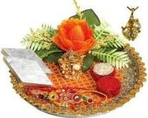 Rakhi Thali Decorations Rakhi is celebrated with pomp and gaiety by Hindus in different parts of India. The ceremonious occasion commemorates the strong bond between brother and sister.  http://famousindianfestivals.blogspot.in/2010/07/rakhi-thali-decorations.html