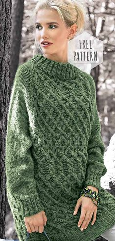 Knitting Tunic Free Pattern Knitting Tunic Free Pattern Always aspired to discover how to knit, nonetheless undecided where to start? Free Knitting Patterns For Women, Sweater Knitting Patterns, Knitted Poncho, Knitting For Beginners, Crochet Cardigan, Tunic Pattern, Free Pattern, Pullover, Knit Crochet