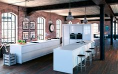#glosswhite #kitchen from the Linear Select range available at Rowat & Gray interiors