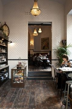 Cafe Propaganda, Rome, Italy - Latium a caf to linger in. Cafe Design, House Design, Interior Design, Interior Shop, Coffee Places, Cafe Style, Cafe Shop, Medan, Commercial Interiors