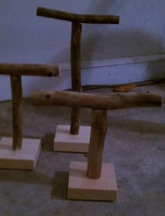 Set/3 Rustic Jewelry Display Stands by ...