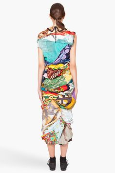 Fabulous #vintage scarf dress. #fashion #style #bold