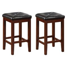 Have to have it. Upholstered Square Seat Backless Counter Stool - 24 in. - Set of 2 $98.00