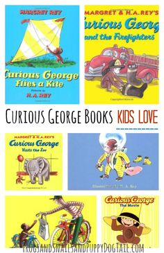 Curious George book list, activities and banana snacks on FSPDT