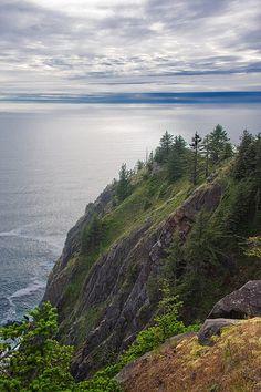 Near Tillamook. Neahkahnie Mountain - Oregon coast