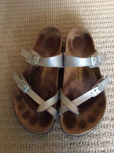 Birkenstock silver sandals
