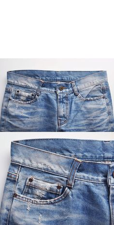 Bottoms :: Jeans :: Euro Hipster Fit Damge Vintage-Jeans 66 - Mens Fashion Clothing For An Attractive Guy Look