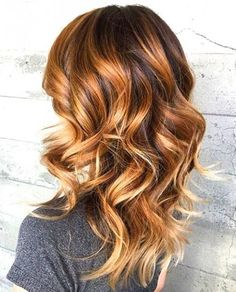 Cinnamon colored ombre is perfect for brunette ombre hairstyles!