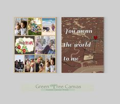 Thank You Mom, Custom Canvas Prints, Tree Canvas, Parent Gifts, Green Trees, Parents, Photo Wall, Etsy Shop, Handmade Gifts