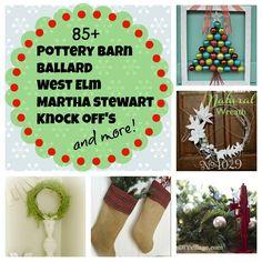 Holiday knock off, Pottery barn, Martha Stewart, West Elm