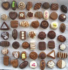 Polymer clay chocolates!!♥