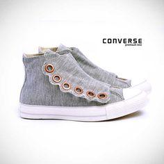 Converse All Star Premium Big Festone HI Cinza
